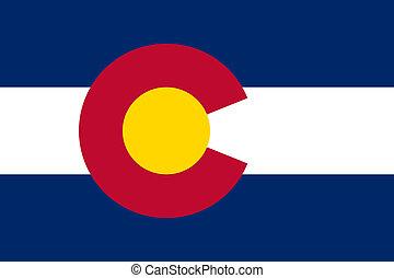 état, drapeau colorado
