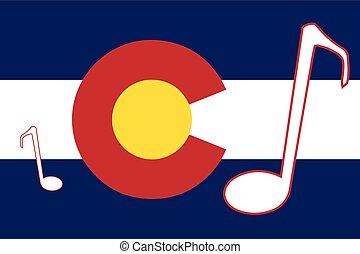 état, drapeau colorado, musical