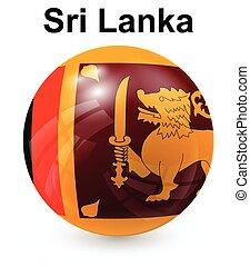 état, drapeau sri lanka, officiel