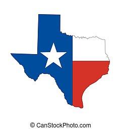 état, texture, texas, icône