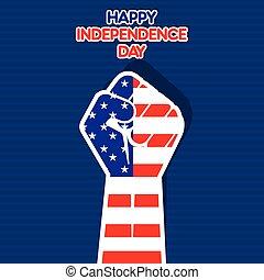état, uni, jour, indépendance