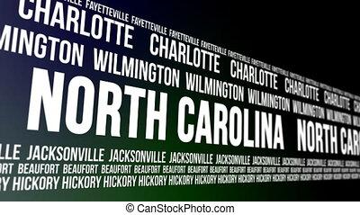état, villes, nord, commandant, caroline
