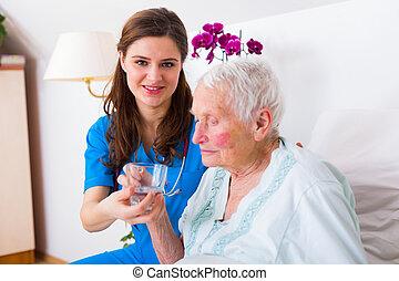 ételadag, fajta, caregiver
