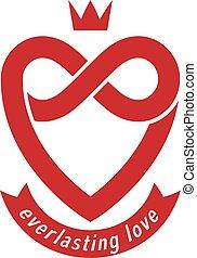 infinit heart cr signe symbole ternel signe vecteur conceptuel amour boucle. Black Bedroom Furniture Sets. Home Design Ideas