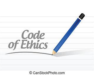 éthique, code, conception, message, illustration