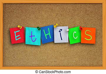 éthique, concept