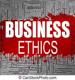 éthique, mot, business, nuage