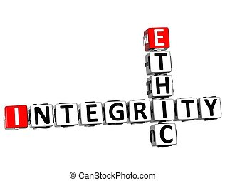 éthique, mots croisés, intégrité, 3d