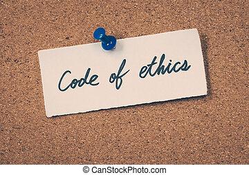 éticas, código