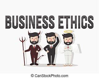 éticas, illus, ilustración negocio