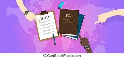 éticas, ley, legal, ético, contra