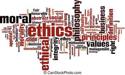 éticas, palabra, nube