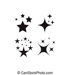 étincelant, étoile, icône