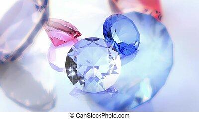 étincelant, diamants