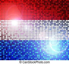étincelant, drapeau, de, pays-bas