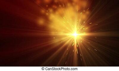 étincelle, brûler, 4k, poussière, lumière