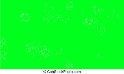 étincelles, écran, vert