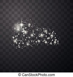 étincelles, doré, blanc, étoiles