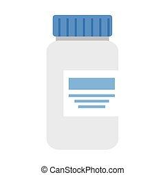 étiquette, bouteille, conception, vecteur, laboratoire