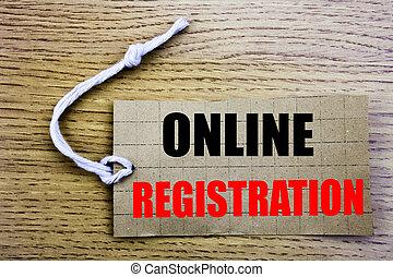 étiquette, business, registration., espace, papier, fond, internet, bois, vente, login, copie, coût, ligne, vendange, concept, écrit