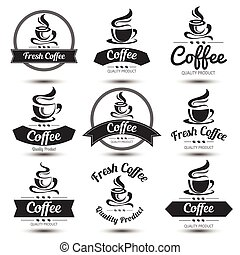 étiquette, café