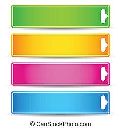 étiquette, coloré