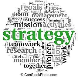 étiquette, concept, mot, nuage, stratégie