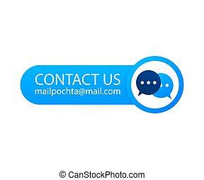 étiquette, courrier, contact, illustration., nous, vecteur, backgraund., stockage