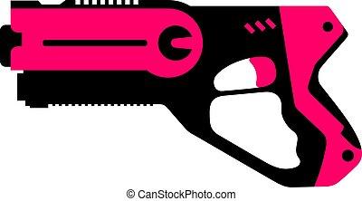 étiquette, fusil laser