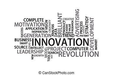 étiquette, nuage, innovation