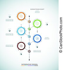 étiquette, papier, vecteur, conception, gabarit, infographics, 3d
