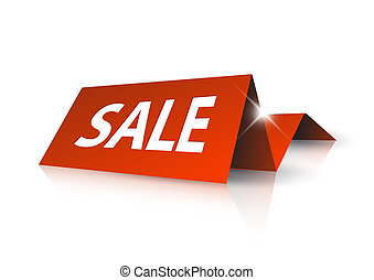 étiquette papier, vente, rouges