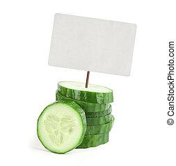 étiquette prix, concombre