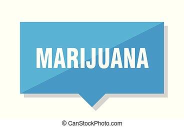 étiquette prix, marijuana