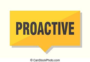 étiquette prix, proactive