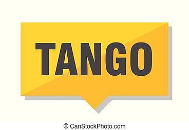 étiquette prix, tango