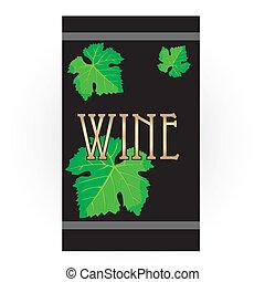 étiquette vin