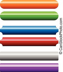 étiquettes, ensemble, bannière, espace, bouton, labels., rectangulaire, boutons, arrière-plan., message., horizontal, ton, vide
