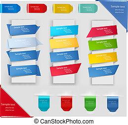étiquettes, ensemble, stickers., insignes