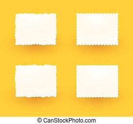 étiquettes, fond jaune