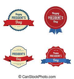 étiquettes, jour président