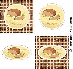 étiquettes, pain seigle