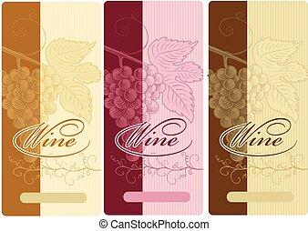 étiquettes, vin