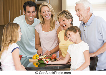 étkezési idő, előkészítő, együtt, család étkezés