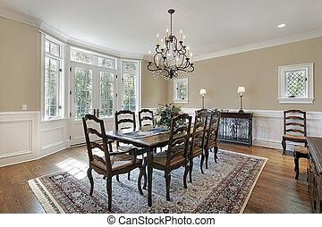 étkező, belépés, szoba, kis zárt belső udvar