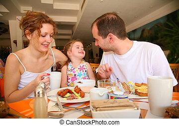étkező, család