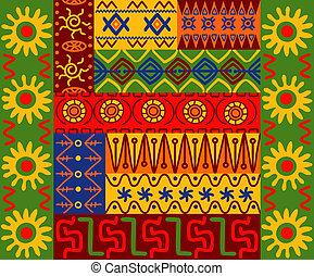 étnico, padrões, e, ornamentos
