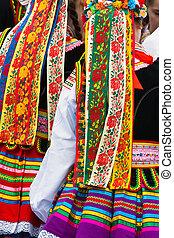 étnico, trajes