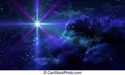 étoilé, étoile, nuit
