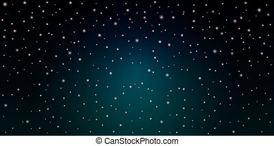 étoilé, espace, cosmos, bleu, étoiles, sky., nuit, briller, fond